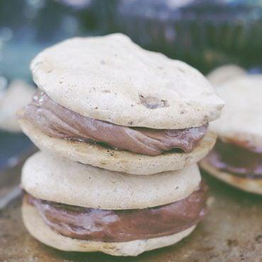 Eggless Meringue Nice Cream Sandwich Cookies (Free From: Gluten & Grains, Dairy, Eggs, Oils, Refined Sugar, + Nut-Free Option)