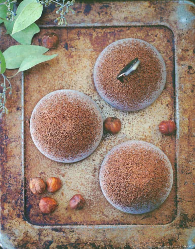 hazelnut chocolate tartufo dessert, dairy-free, refined sugar-free, vegan
