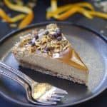raw orange caramel tart -- gluten & grain-free, vegan, refined sugar-free