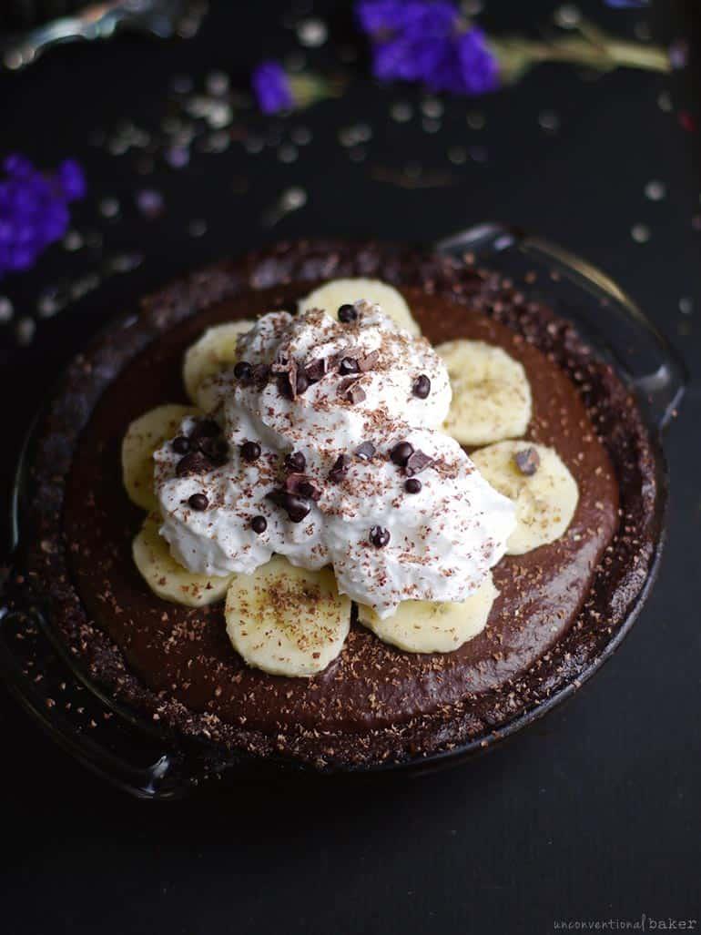 Raw Chocolate Hemp Banana Pie recipe