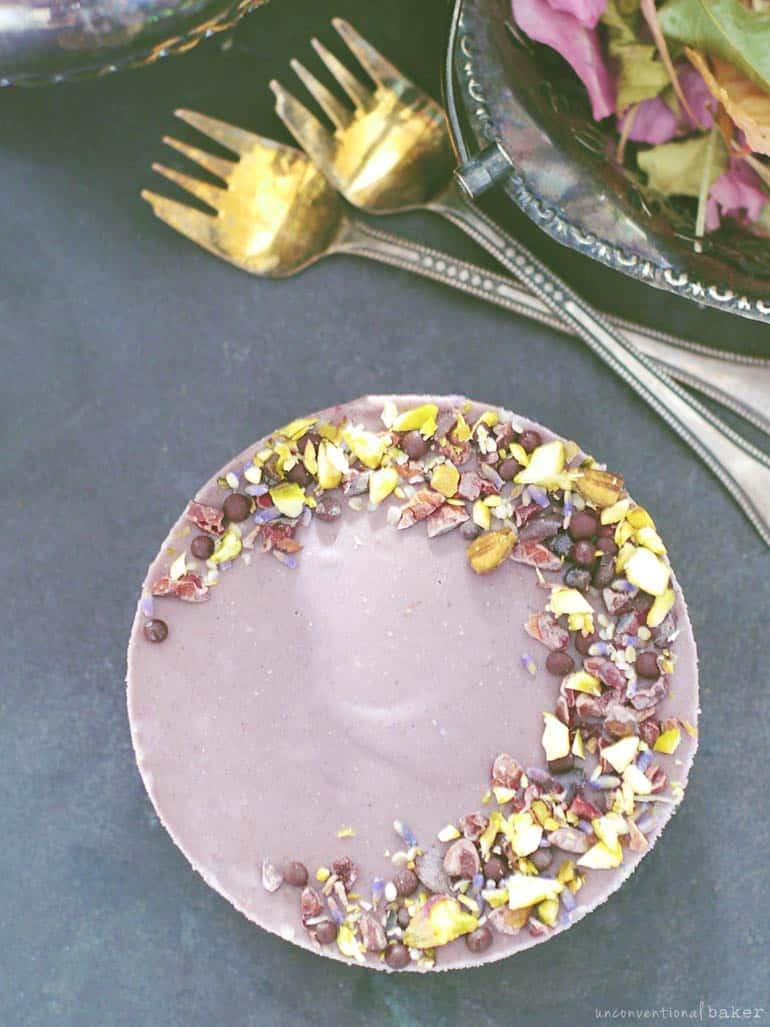 maqui lavender cheesecake - raw recipe