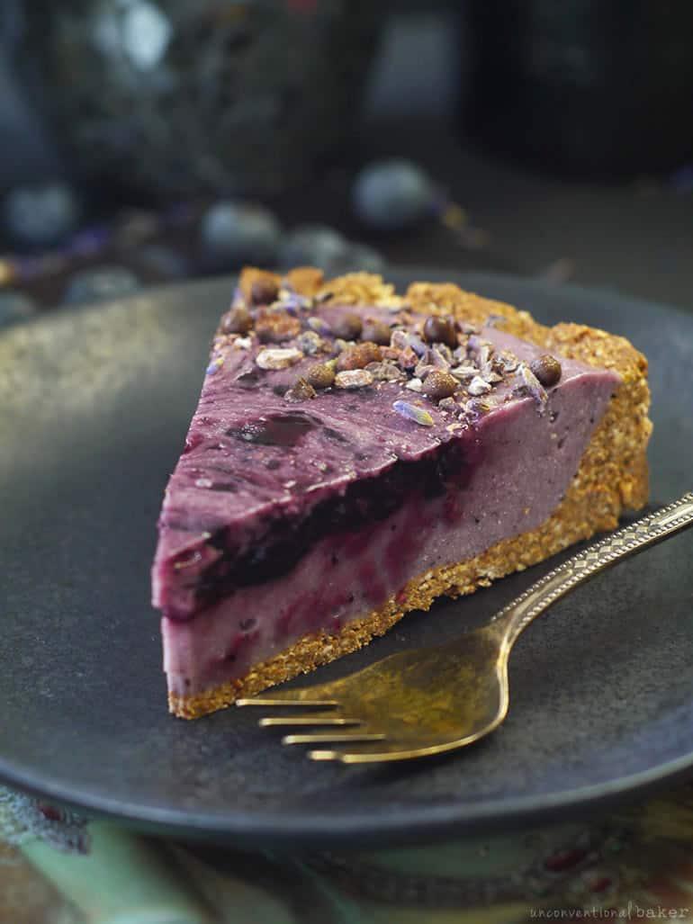 gluten-free vegan blueberry custard pie