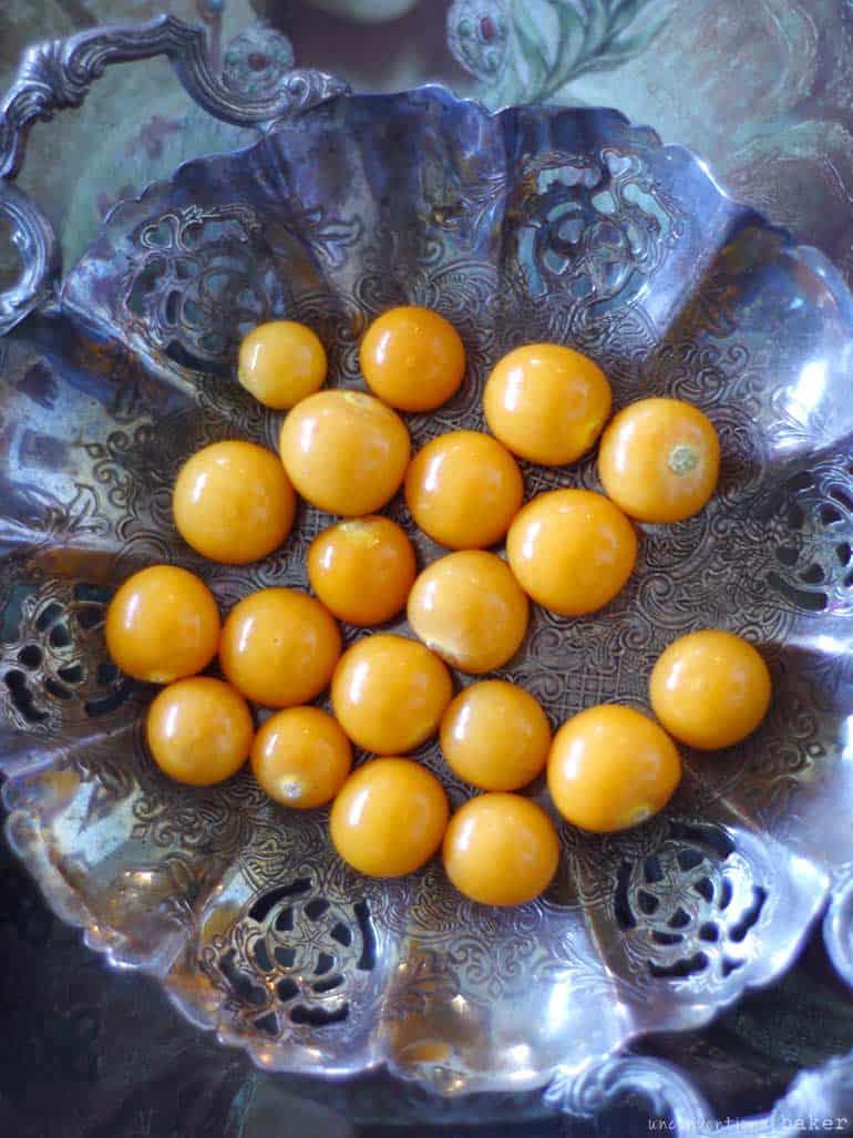 inca berries or golden berries used in a raw vegan cheesecake