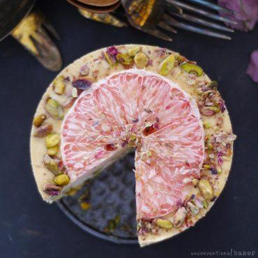 grapefruit pistachio cake -- grain-free, vegan, refined sugar-free