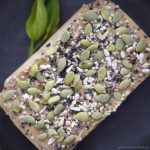 sunflower seed cake topped with various seeds