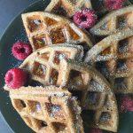 vegan gluten-free buckwheat banana waffles recipe