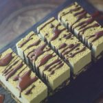 raw vegan chocolate mint slices with chocolate drizzle
