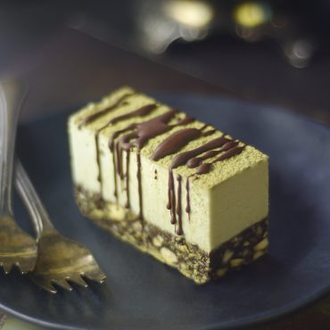 gluten-free vegan chocolate mint slice