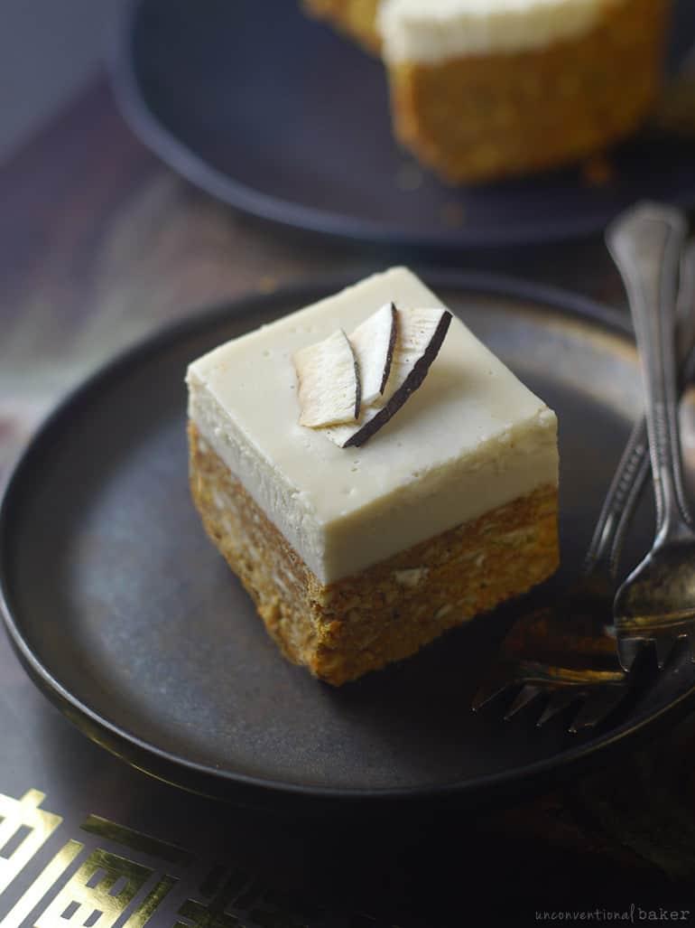 raw carrot coconut cake nut-free