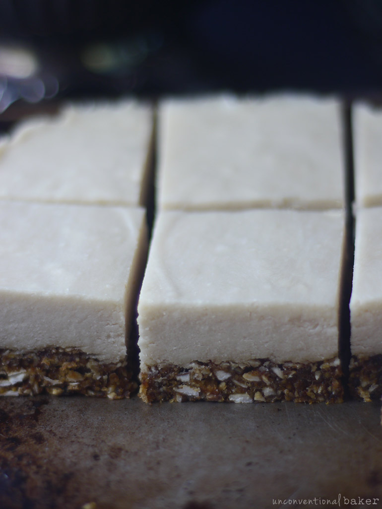 dairy-free refined sugar-free coconut cream bars