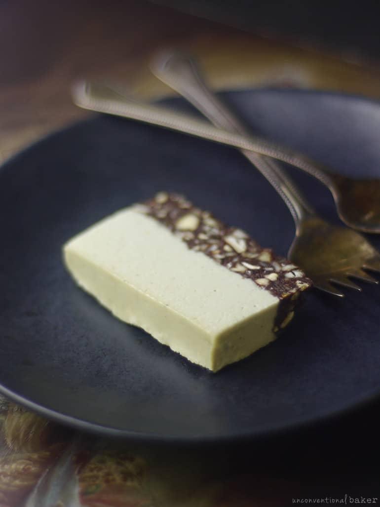 creamy chocolate mint slice (vegan and grain-free recipe)