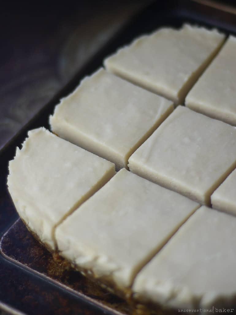 vegan coconut cream slices