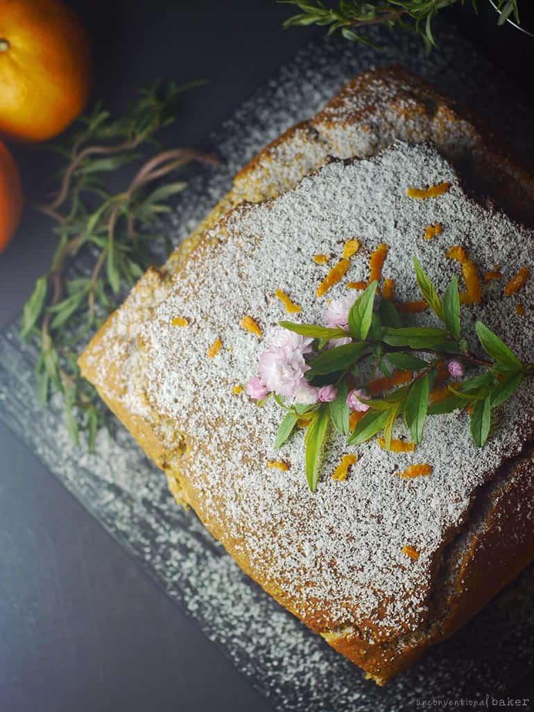 gluten-free vegan tangerine loaf