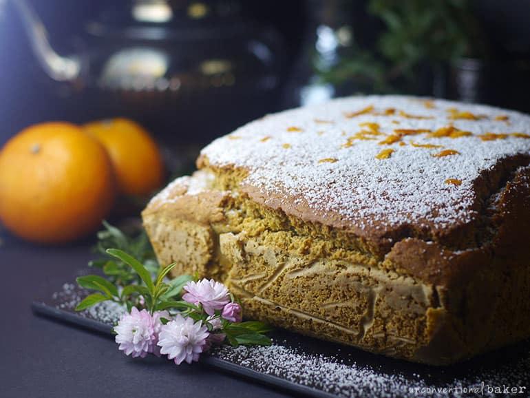 vegan gluten-free spiced tangerine coffee cake