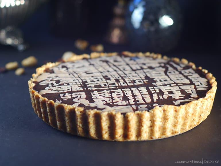 gluten-free vegan chocolate peanut butter pie