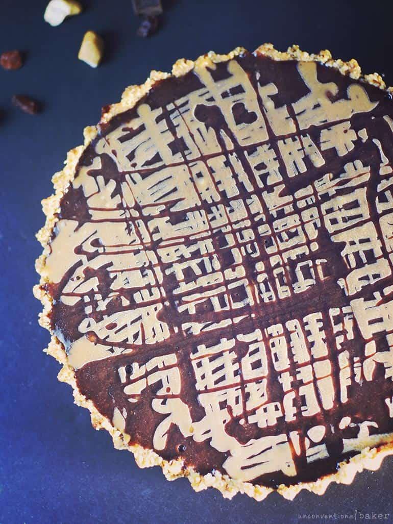 no-bake peanut butter pie -- vegan recipe
