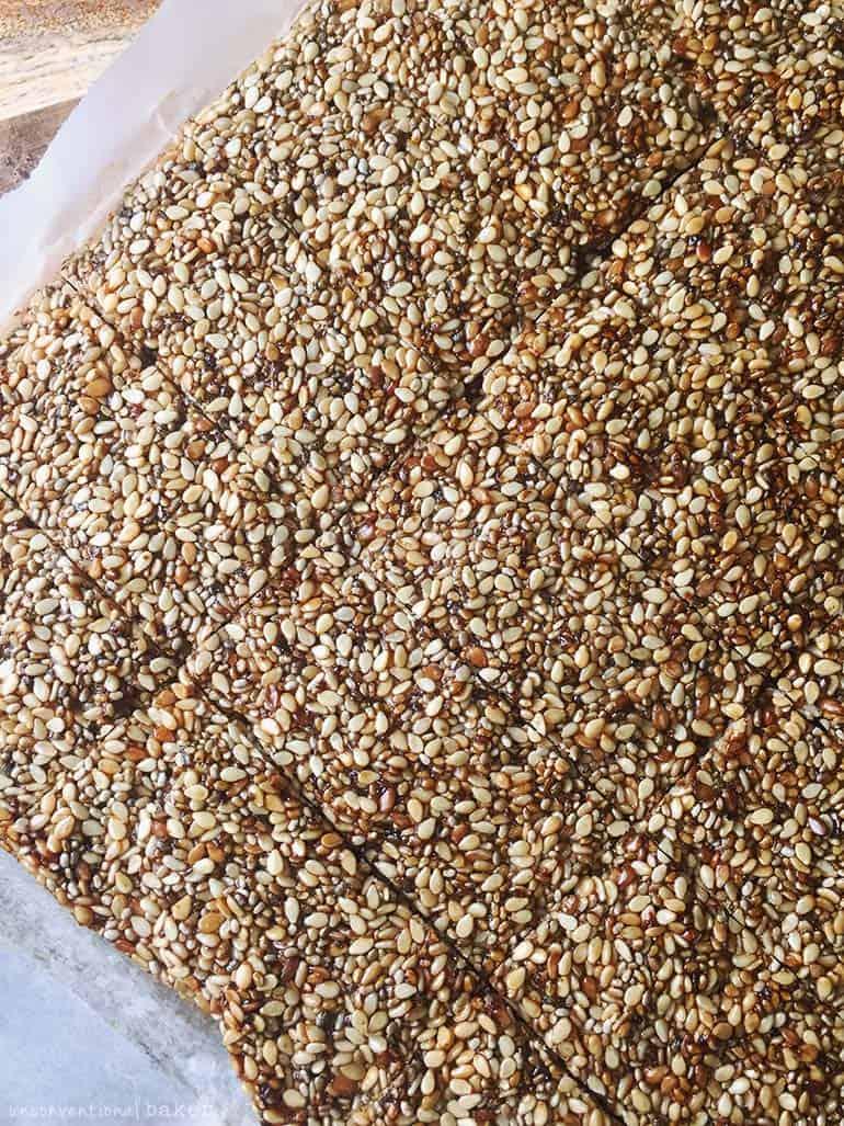 sesame chia seed bars vegan gf