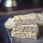 sesame chia seed granola bars (vegan, gluten-free, oil-free, refined sugar-free)