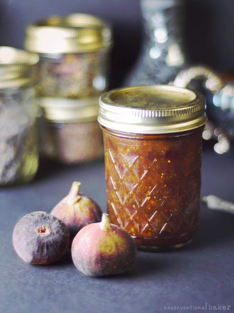 fresh fig preserves (refined sugar-free vegan spread)