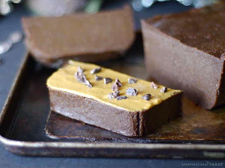 chocolate peanut butter pumpkin fudge (vegan, gluten-free)