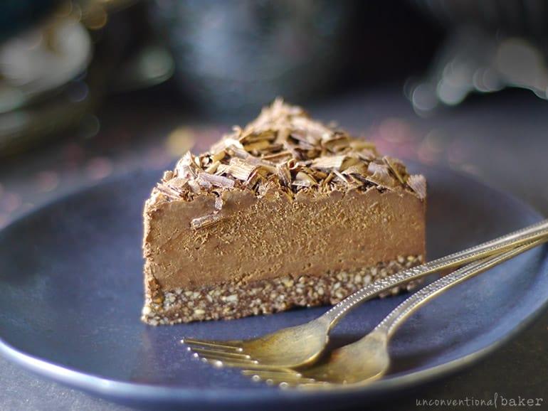 vegan no-bake chocolate espresso fudge cake (gluten-free)