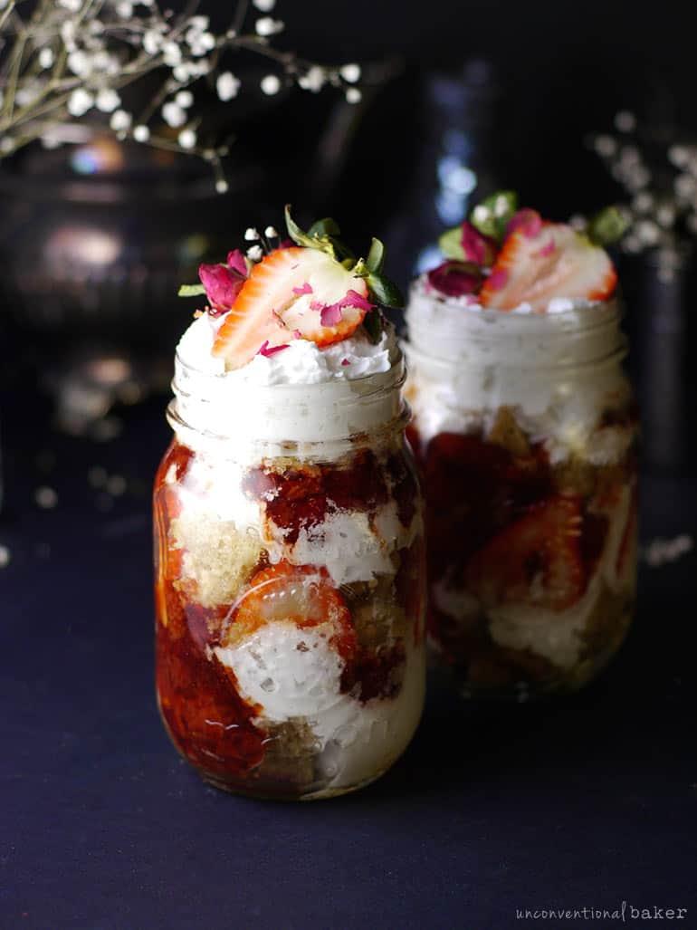 vegan balsamic strawberry trifle recipe (gluten-free)