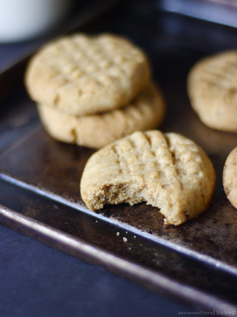 soft on the inside crunchy on the outside peanut butter cookie (gluten-free vegan)