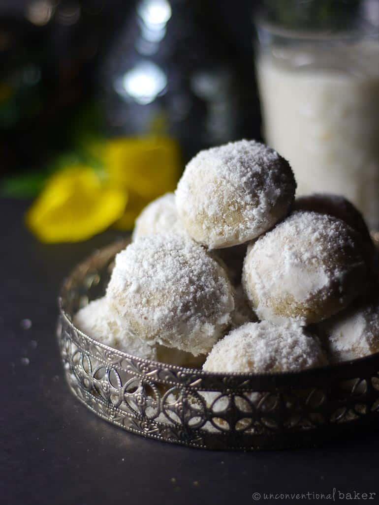 Mexican Wedding Cookies (Vegan, Gluten-Free)