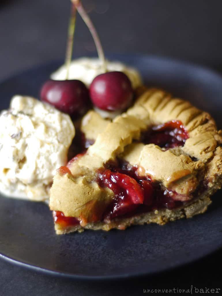 cherry pie -- vegan gluten-free recipe