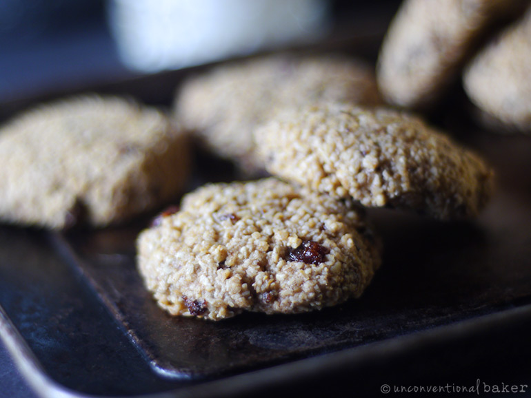 gluten-free vegan oatmeal raisin cookie recipe