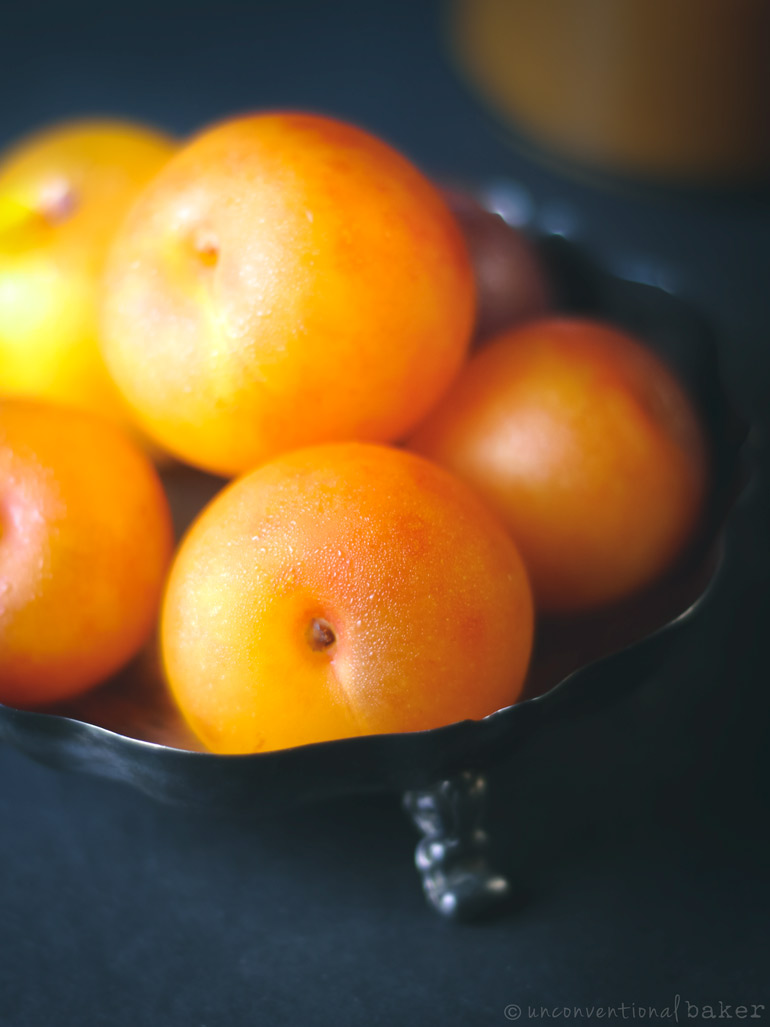 Mirabelle Plums to be used in a quick jam recipe